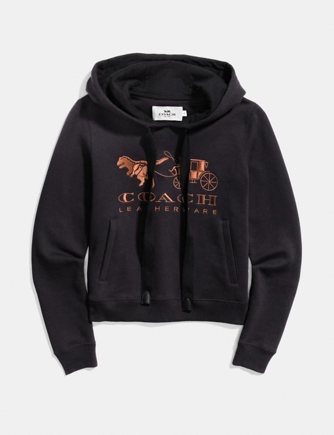 Coach Rexy and Carriage Hoodie Black