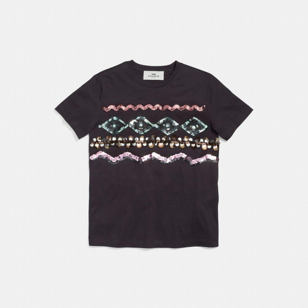Coach Zigzag Embellished T-Shirt