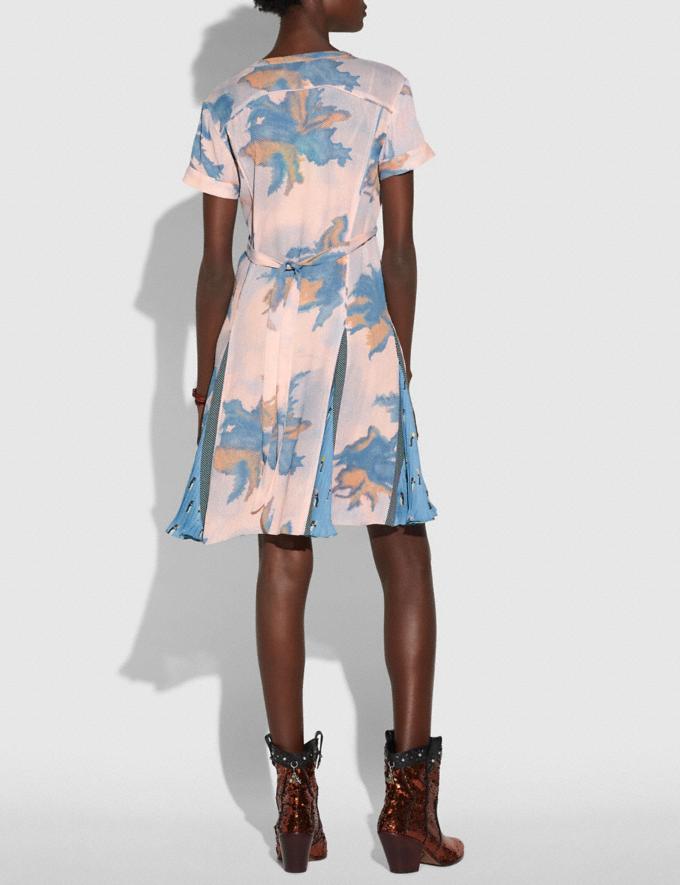 Coach Dreamy Floral Print Pleated Dress Blue Women Ready-to-Wear Dresses Alternate View 2