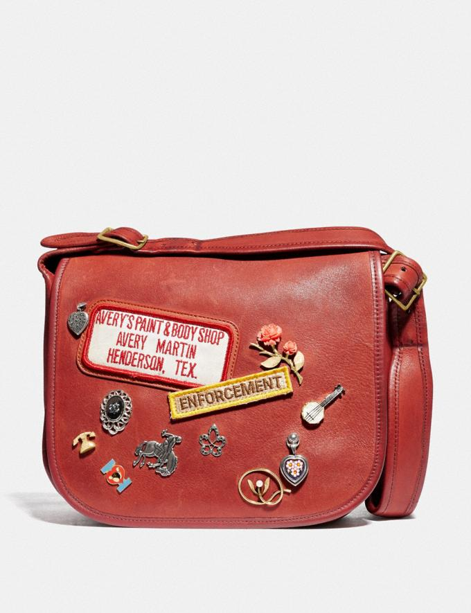 Coach Remixed Classic Pouch 13 Brass/Red New Women's New Arrivals View All
