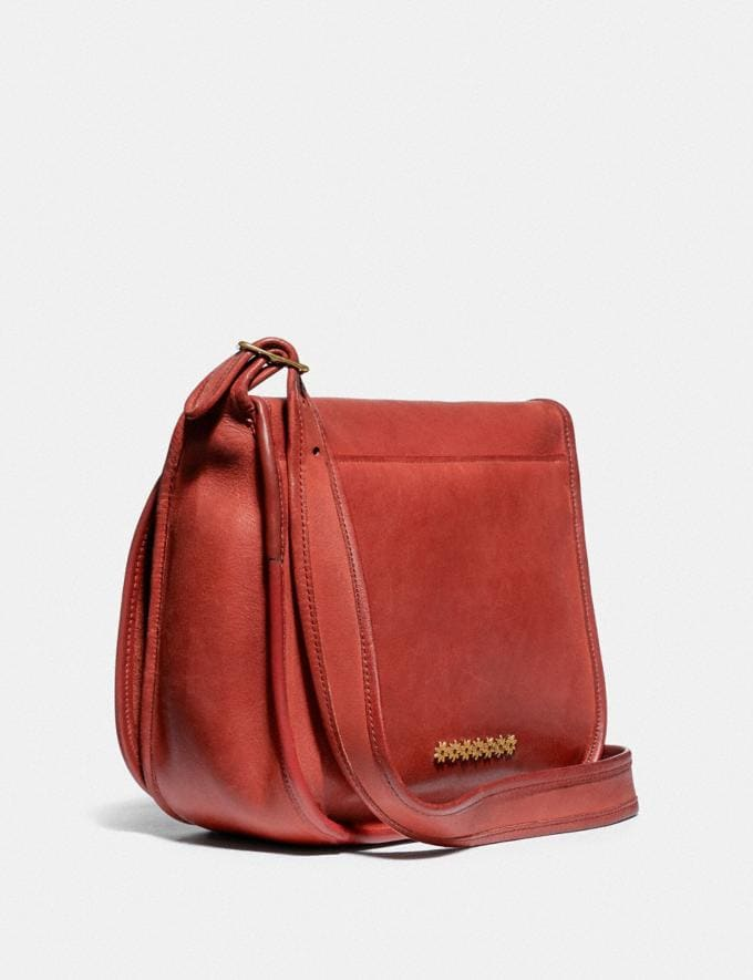 Coach Remixed Classic Pouch 13 Brass/Red New Women's New Arrivals View All Alternate View 1