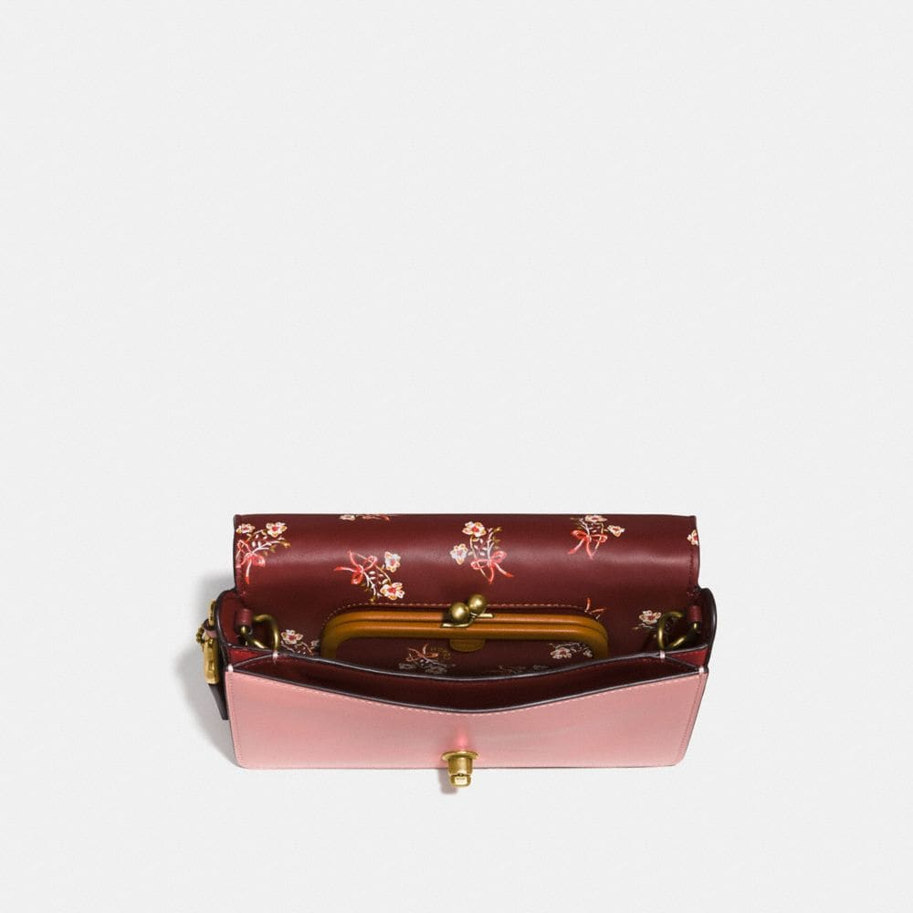 Coach Dinky in Signature Leather With Floral Bow Print Interior Alternate View 1