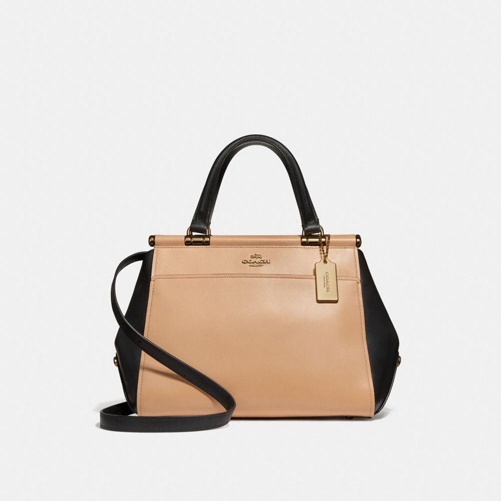 Grace Colorblock Leather Bag, Beechwood Multi/Light Gold