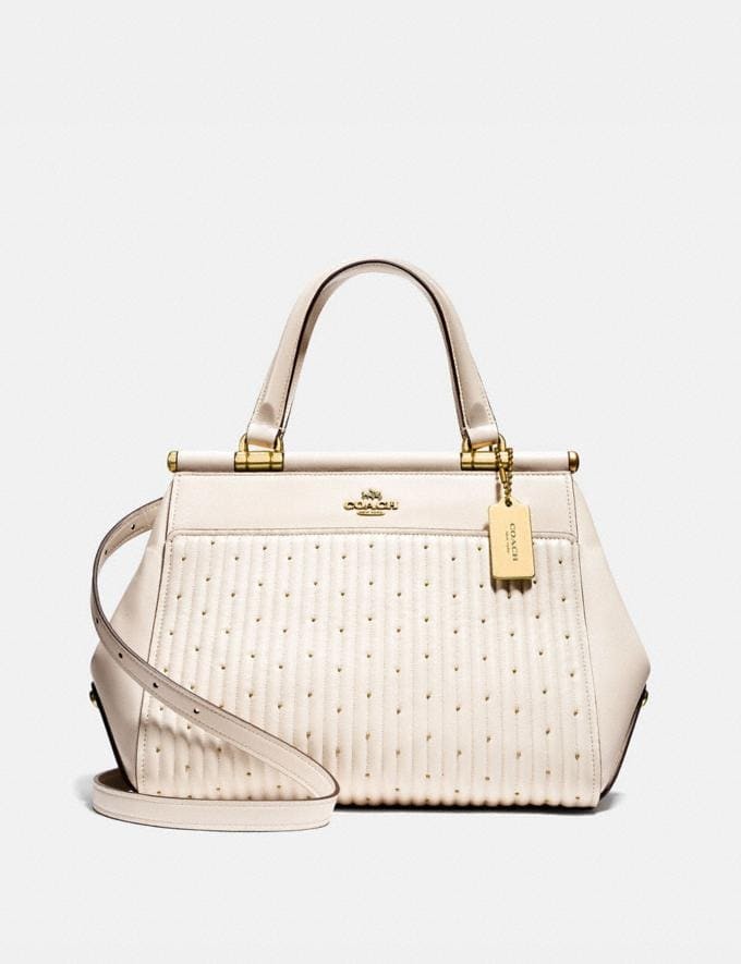 Coach Grace Bag With Quilting and Rivets Chalk/Brass New Featured Online Exclusives