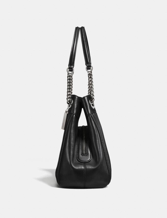 Coach Turnlock Edie Shoulder Bag With Quilting Black/Dark Gunmetal Women Bags Shoulder Bags Alternate View 1