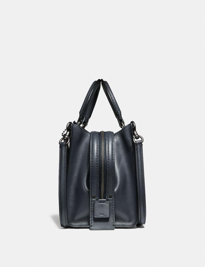Coach Rogue 25 in Signature Leather With Floral Bow Print Interior Ice Pink/Black Copper Women Bags Shoulder Bags Alternate View 1