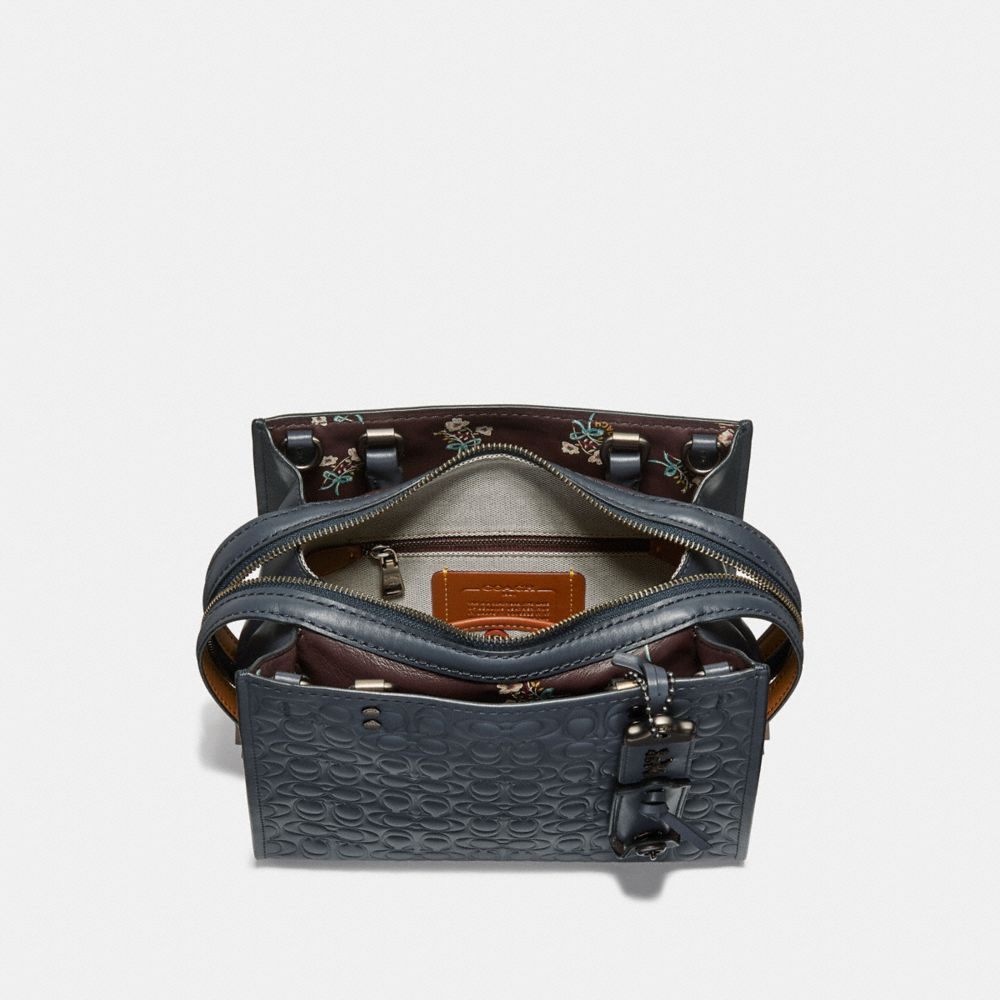Coach Rogue 25 in Signature Leather With Floral Bow Print Interior Alternate View 2