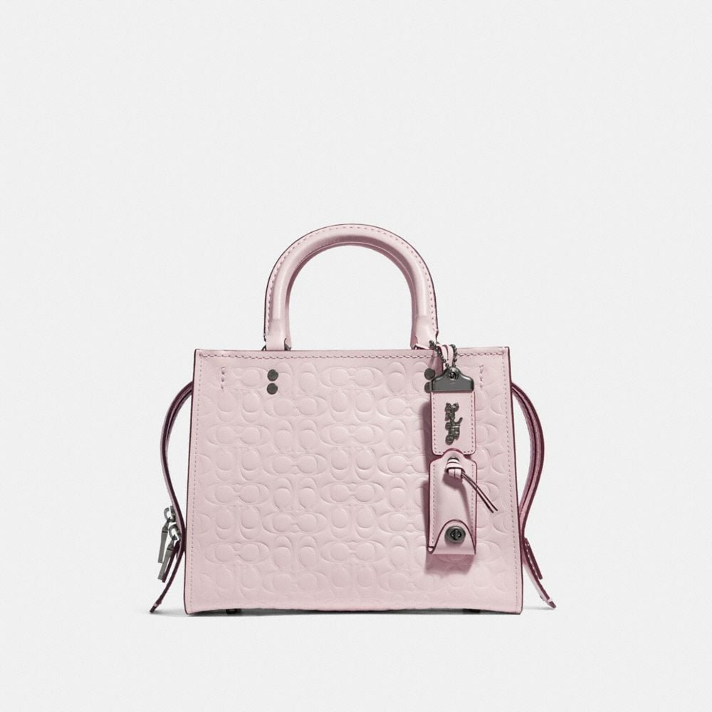 Coach Rogue 25 in Signature Leather With Floral Bow Print Interior
