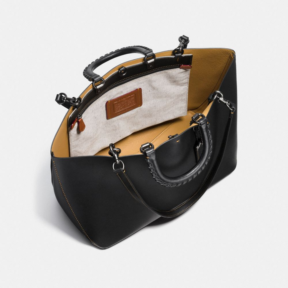 Coach Rogue Tote With Whipstitch Handle Alternate View 3
