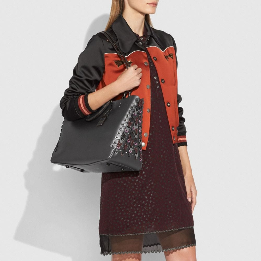 Coach Rogue Tote With Colorblock Coach Link Detail Alternate View 4