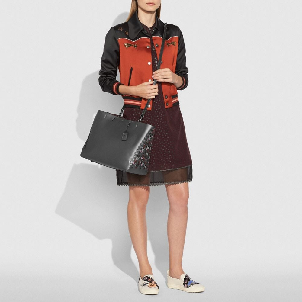 Coach Rogue Tote With Colorblock Coach Link Detail Alternate View 5