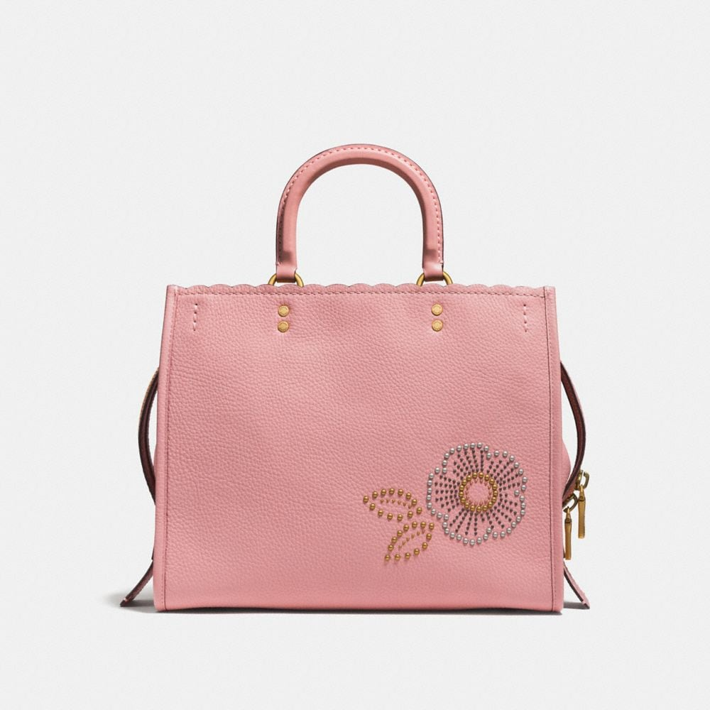Coach Rogue With Snakeskin Tea Rose Rivets Alternate View 2