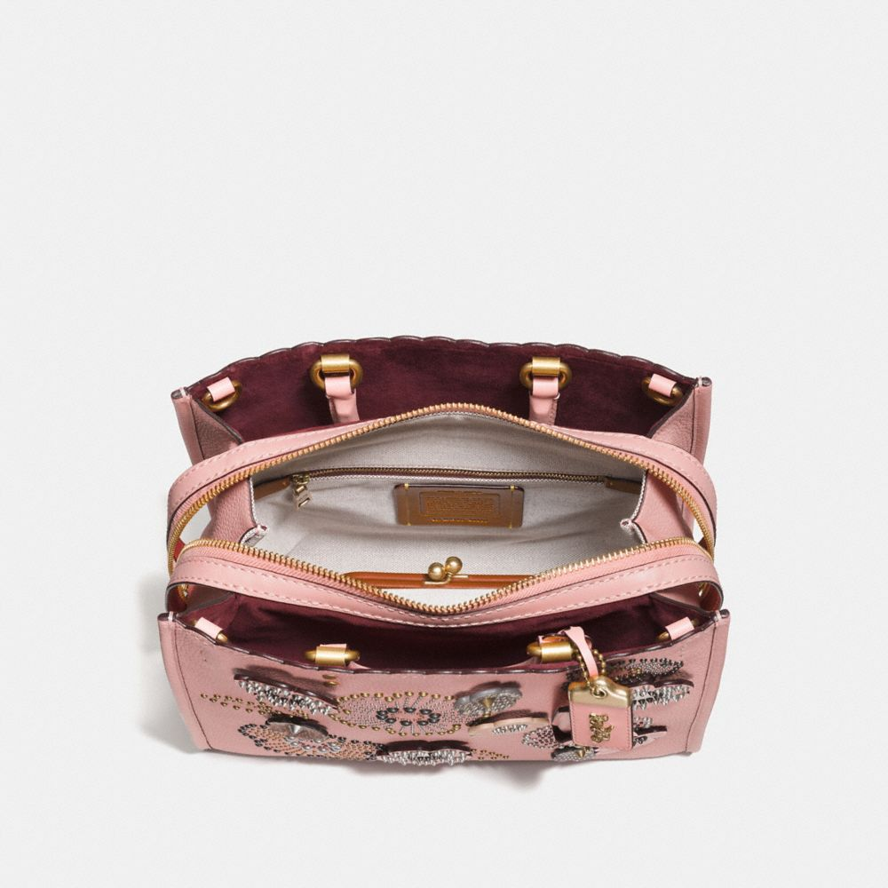 Coach Rogue With Snakeskin Tea Rose Rivets Alternate View 3