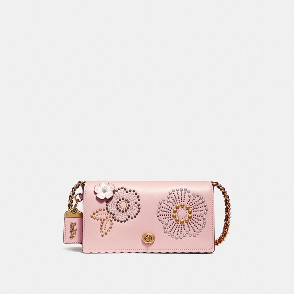 Coach Dinky With Tea Rose Rivets