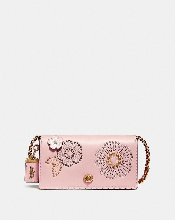 Coach Dinky With Tea Rose Rivets Coach lrgdiC1Y