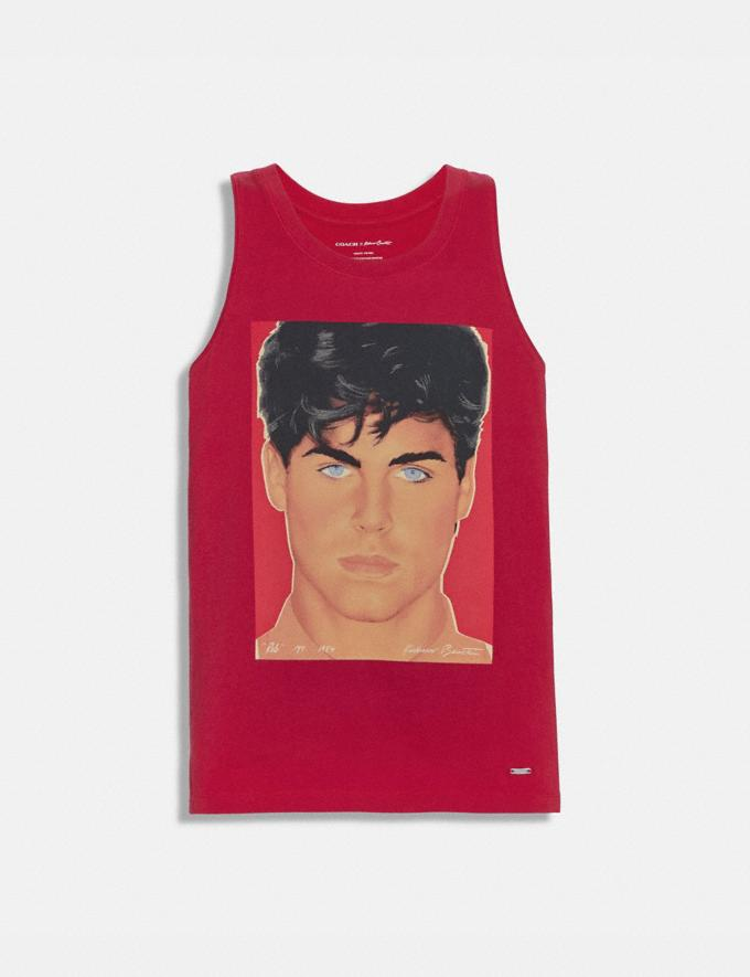 Coach Coach X Richard Bernstein Tank With Rob Lowe Red Men Ready-to-Wear Tops & Bottoms