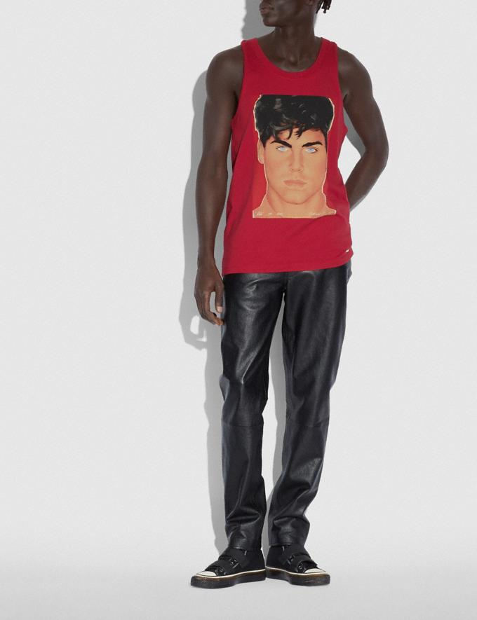 Coach Coach X Richard Bernstein Tank With Rob Lowe Red Men Ready-to-Wear Tops & Bottoms Alternate View 1