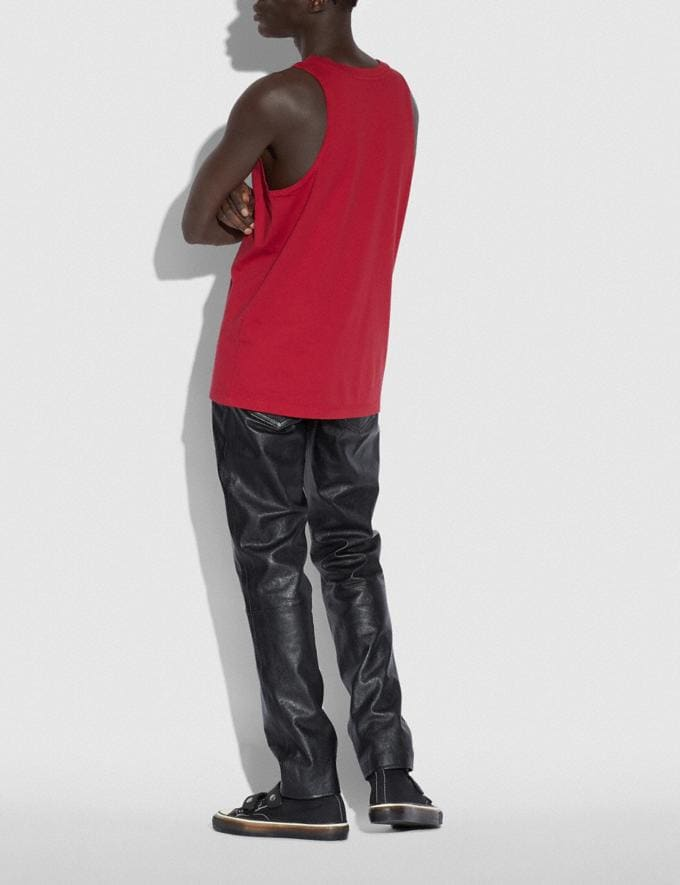 Coach Coach X Richard Bernstein Tank With Rob Lowe Red Men Ready-to-Wear Tops & Bottoms Alternate View 2