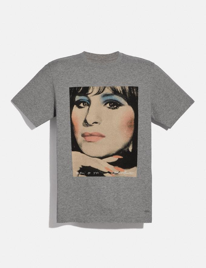 Coach Coach X Richard Bernstein T-Shirt With Barbra Streisand Light Heather Grey Men Ready-to-Wear Tops & Bottoms