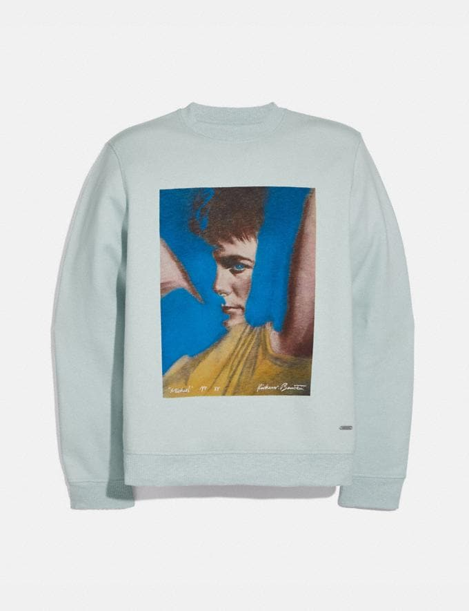 Coach Coach X Richard Bernstein Sweatshirt With Michael J. Fox Blue