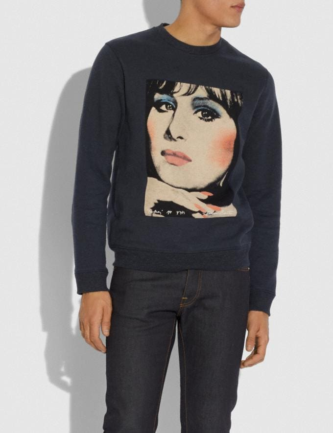 Coach Coach X Richard Bernstein Sweatshirt With Barbra Streisand Black Men Ready-to-Wear Tops & Bottoms Alternate View 1