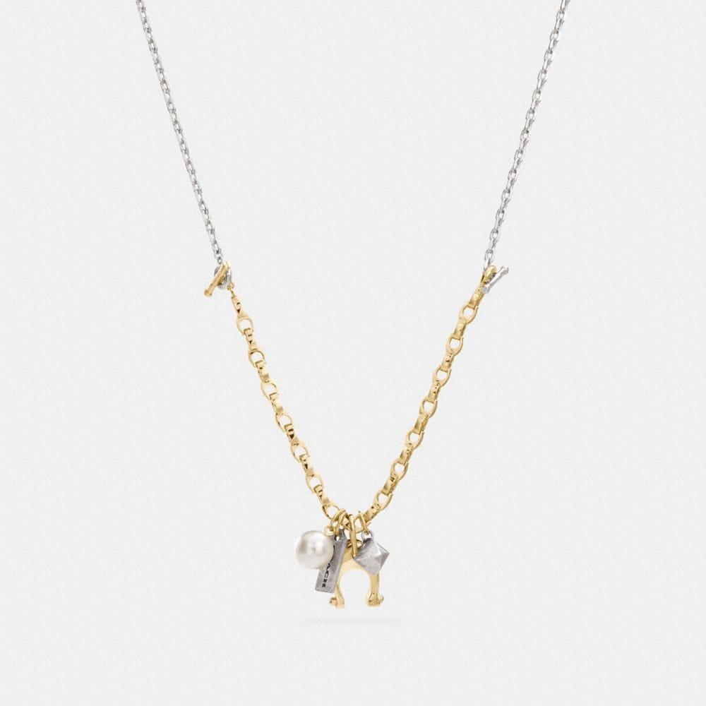 Coach Signature Charm Necklace