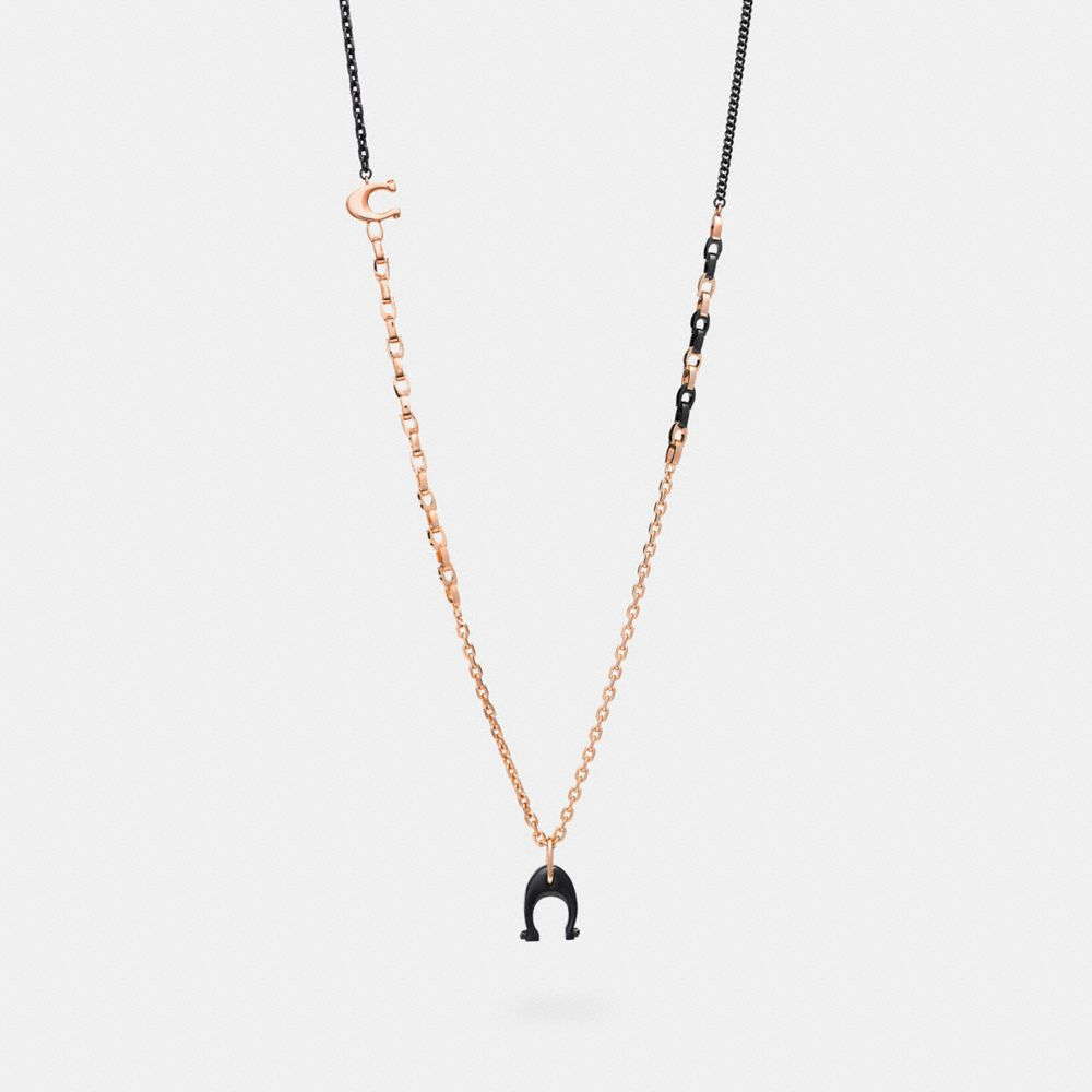 Coach Signature Charm Necklace