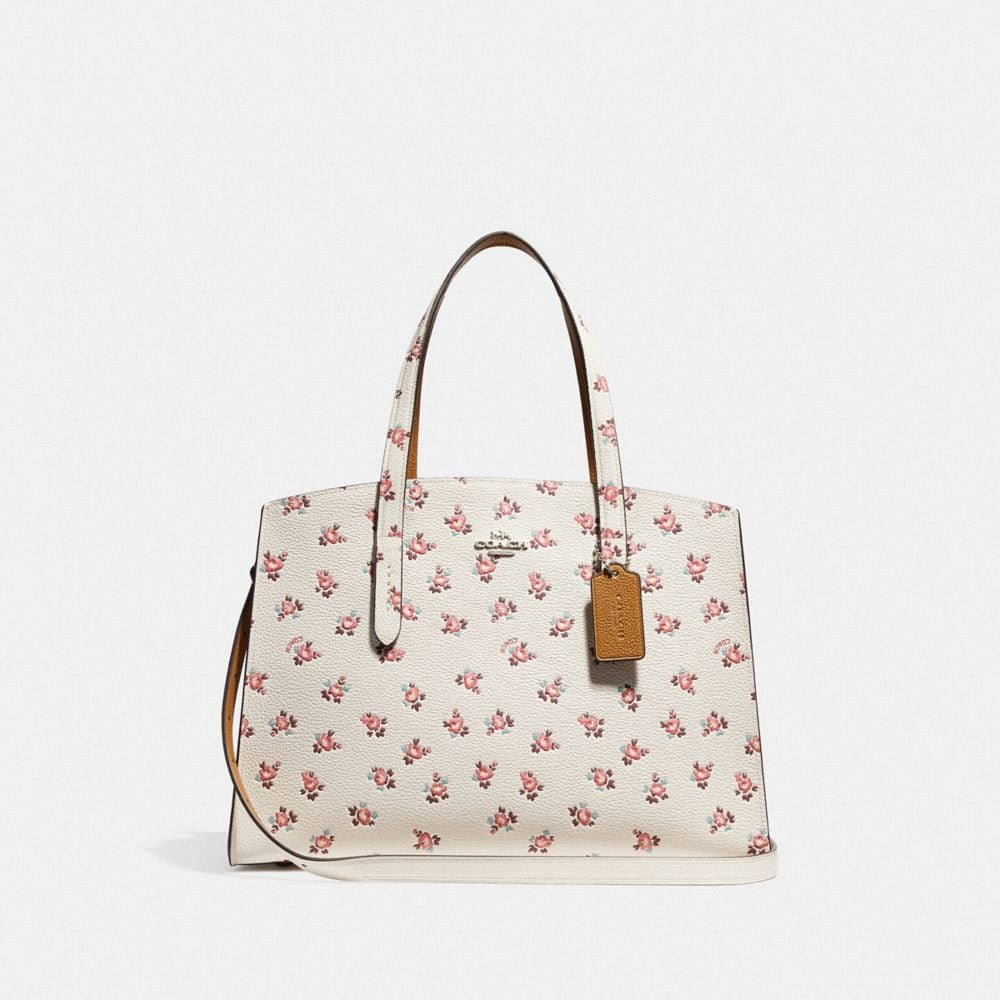 charlie carryall with floral bloom print