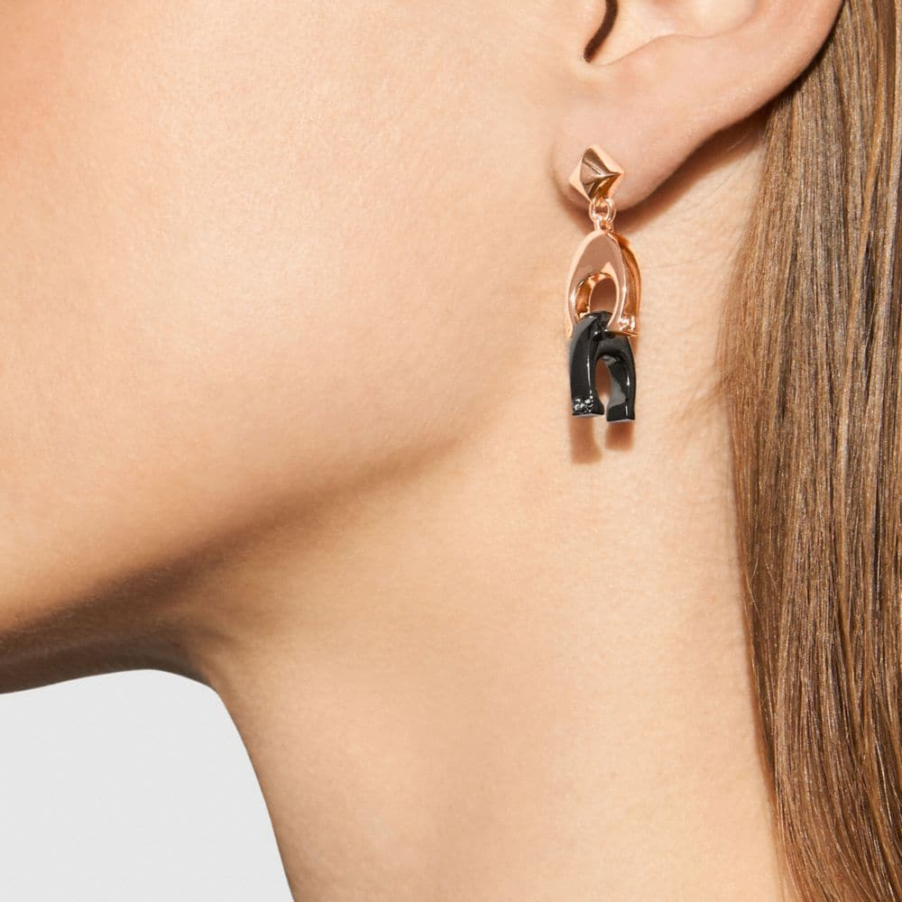 Coach Signature Earrings Alternate View 1