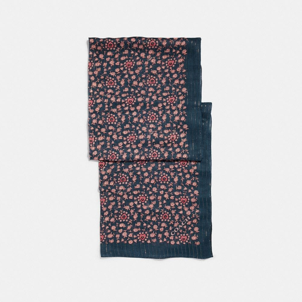 Coach Love Floral Oblong - Women'S in Midnight Navy