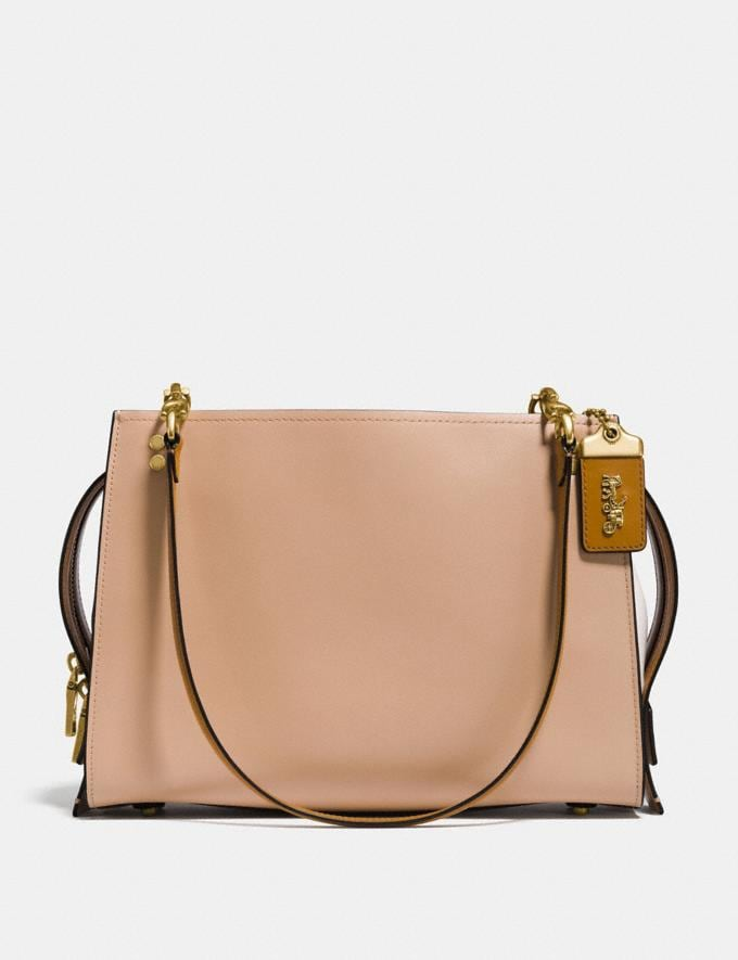 Coach Rogue Shoulder Bag in Colorblock Beechwood/Brass Women Bags Shoulder Bags