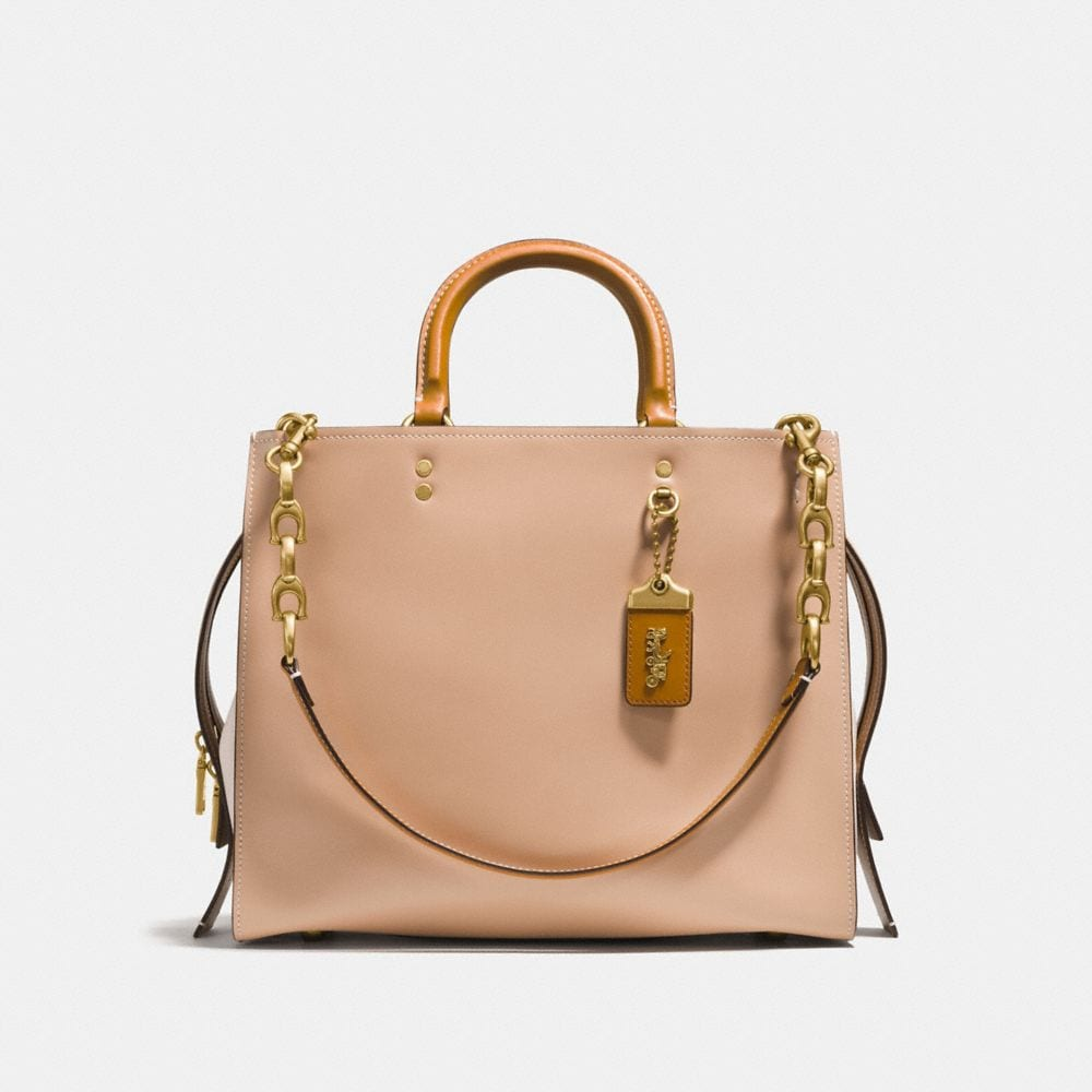 Coach Sac Rogue 25 en Cuir de Veau Orange