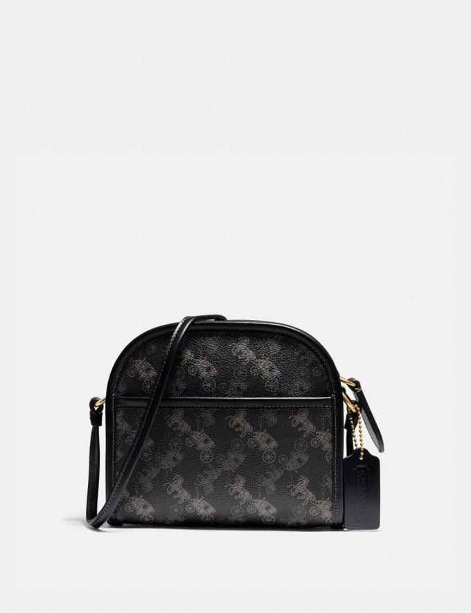 Coach Zip Crossbody With Horse and Carriage Print Ol/Black New Men's New Arrivals Collection