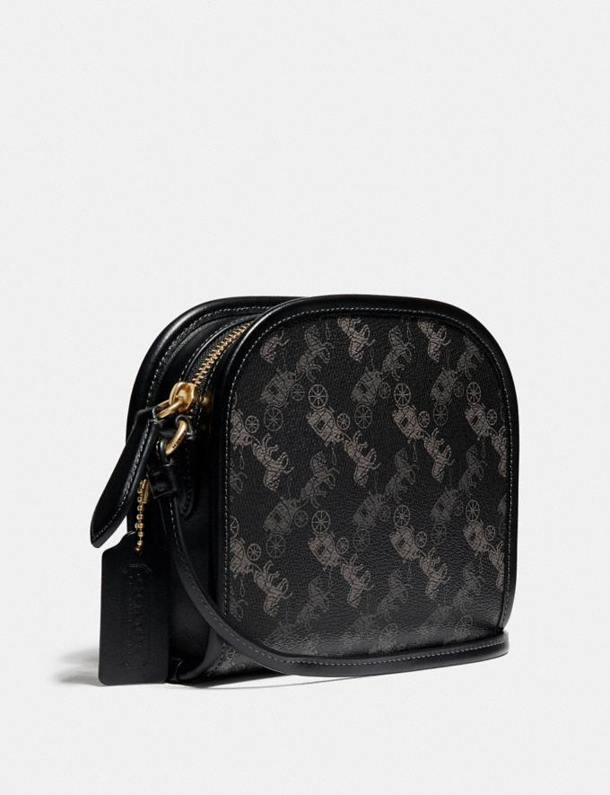 Coach Zip Crossbody With Horse and Carriage Print Ol/Black New Men's New Arrivals Collection Alternate View 1