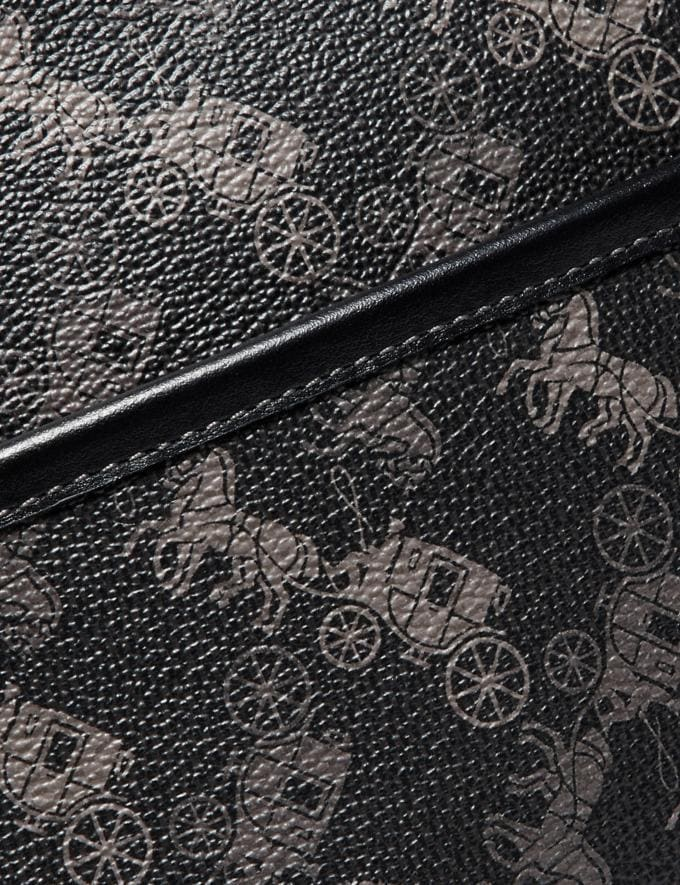 Coach Zip Crossbody With Horse and Carriage Print Ol/Black New Men's New Arrivals Collection Alternate View 4