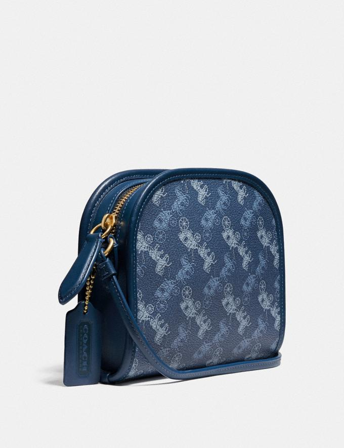 Coach Zip Crossbody With Horse and Carriage Print Ol/True Blue New Men's New Arrivals Collection Alternate View 1