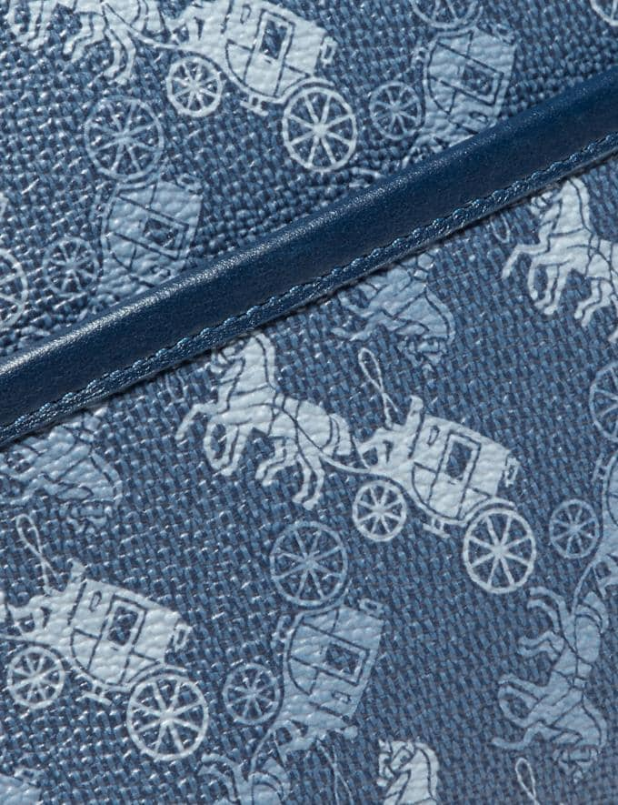 Coach Zip Crossbody With Horse and Carriage Print Ol/True Blue New Men's New Arrivals Collection Alternate View 4