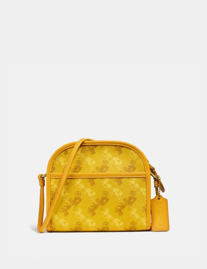 Coach Zip Crossbody With Horse and Carriage Print Ol/Yellow PRIVATE SALE Men's Sale Bags