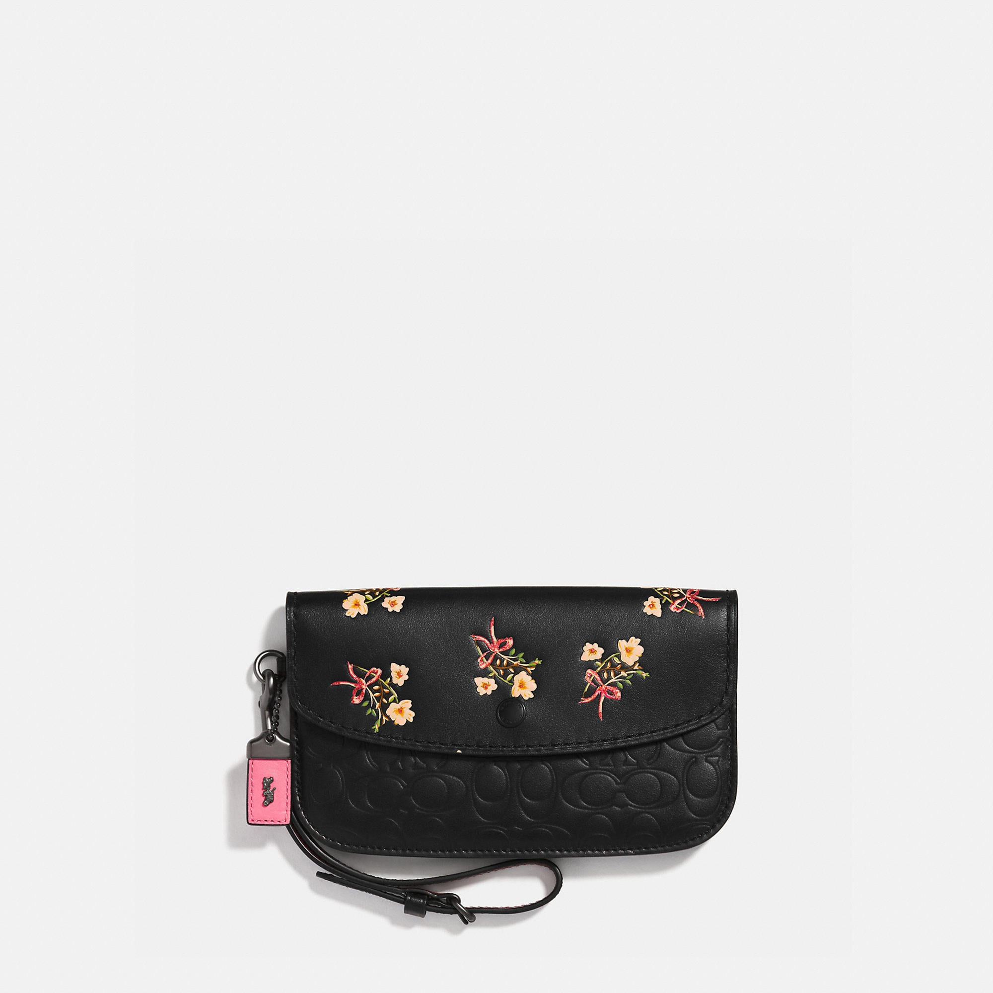 2eff99e6df COACH. Coach Clutch In Signature Leather With Floral Bow Print - Women S