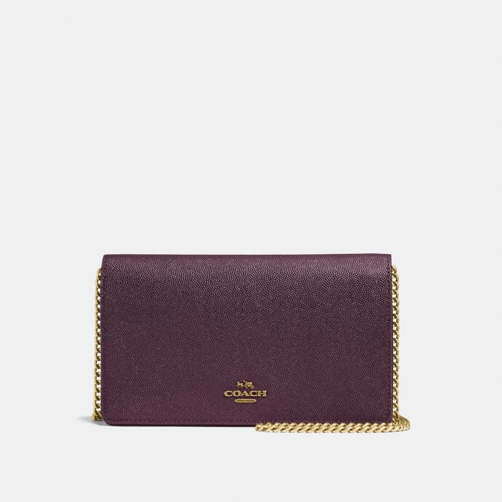 Coach Callie Foldover Chain Clutch