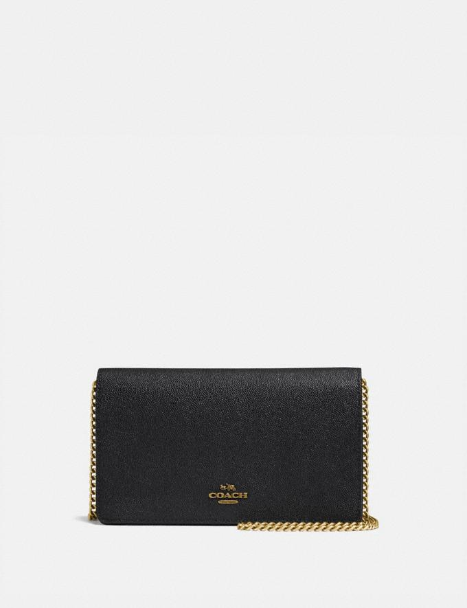 Coach Callie Foldover Chain Clutch Old Brass/Black SALE 30% off Select Full-Price Styles Women's