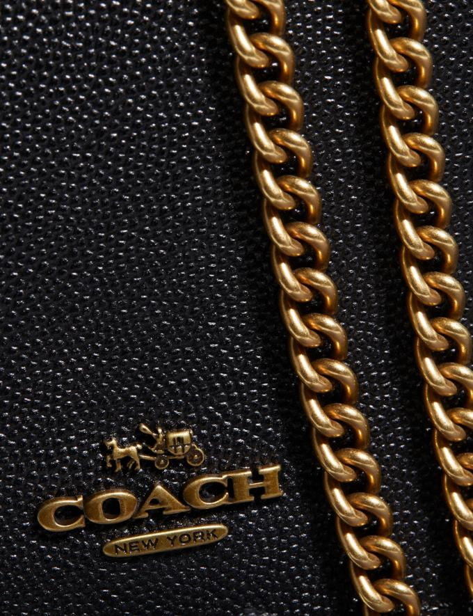 Coach Callie Foldover Chain Clutch Old Brass/Black Women Bags Crossbody Bags Alternate View 5