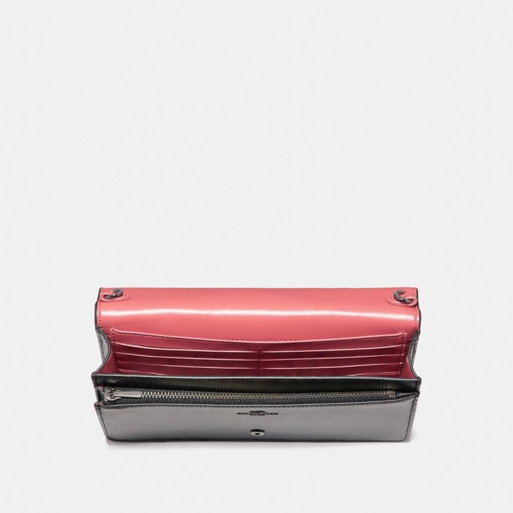 Coach Foldover Crossbody Clutch With Cut Out Tea Rose Alternate View 2