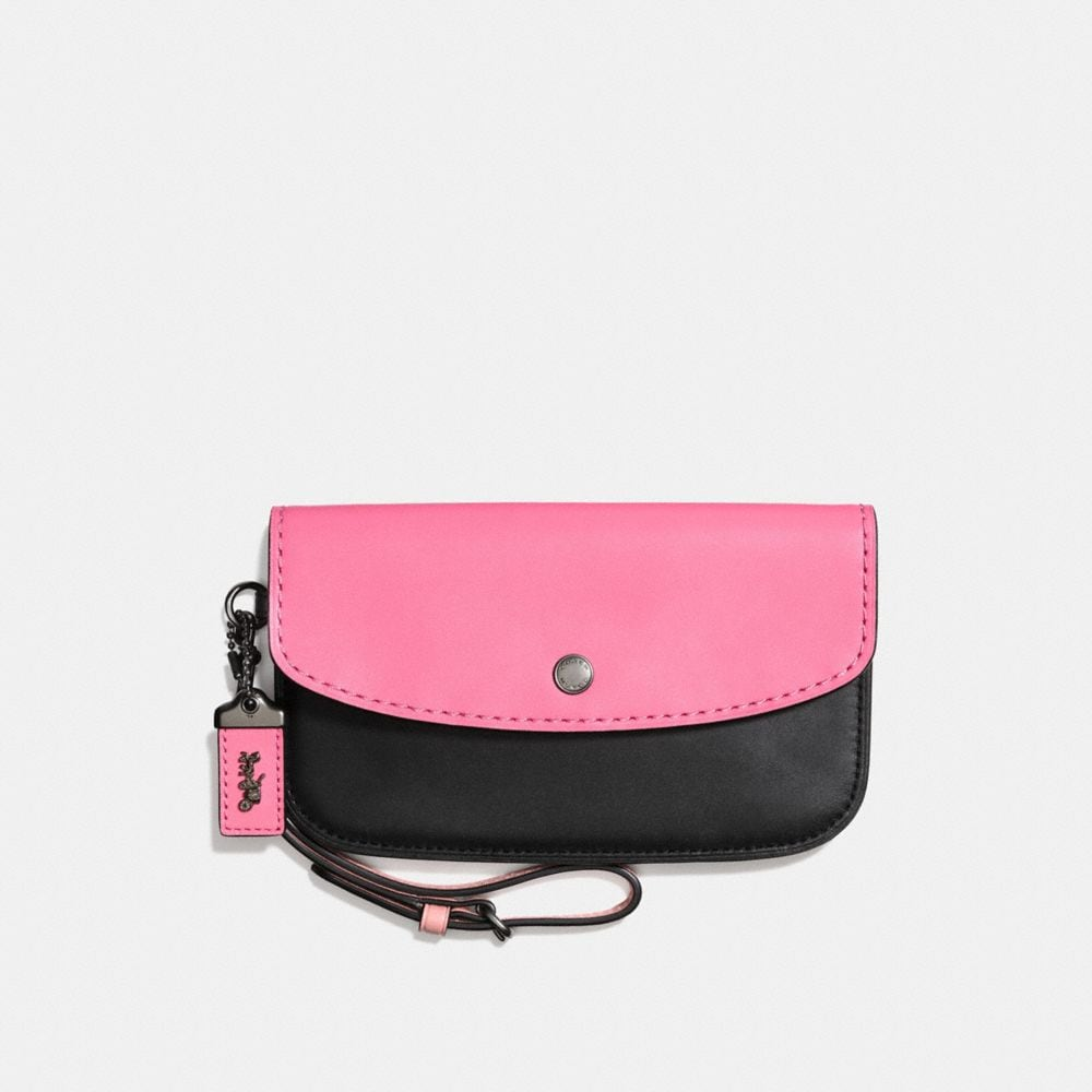 Coach Clutch In Colorblock Coach