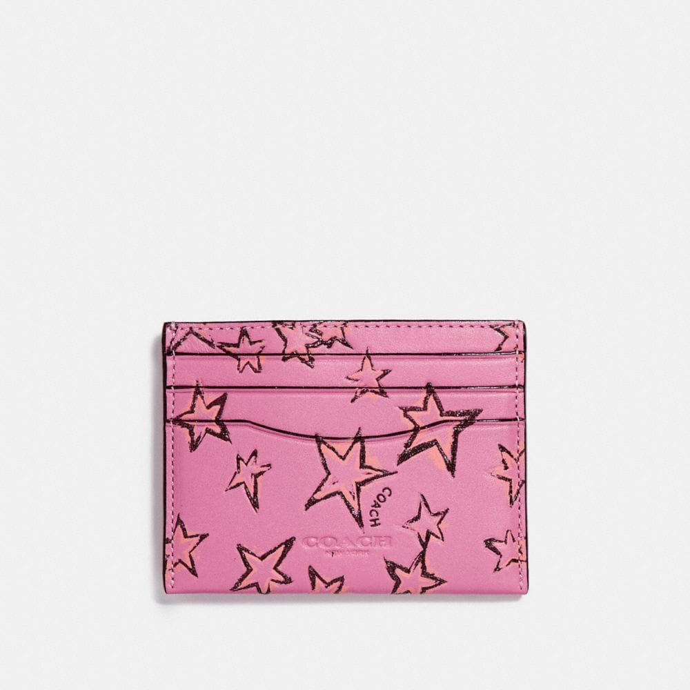 Coach Flat Card Case With Starlight Print