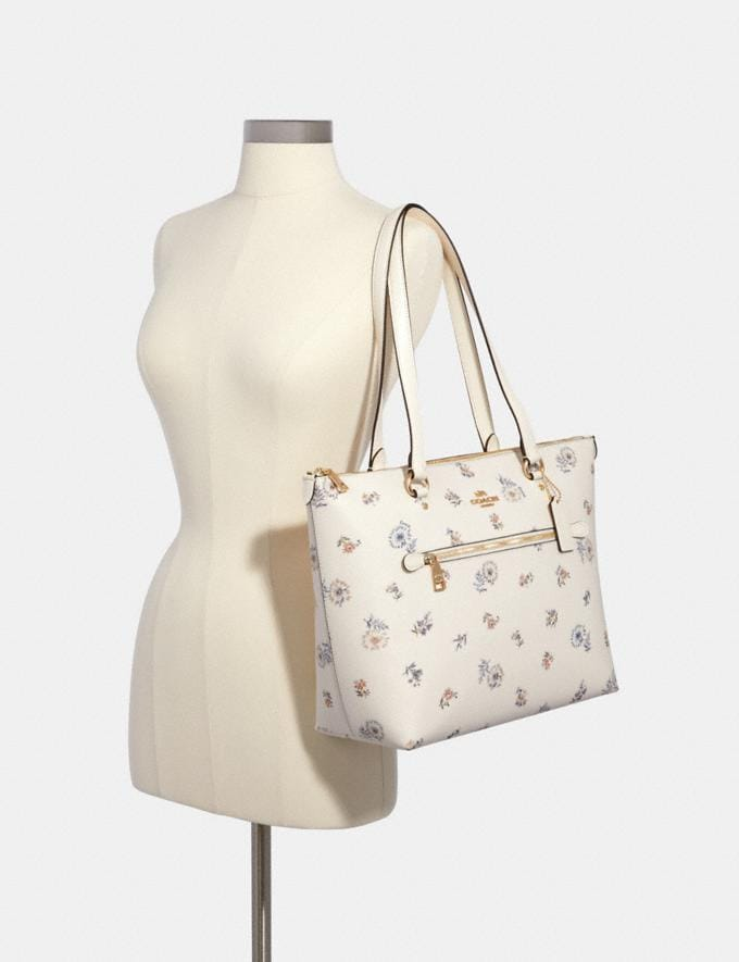 Coach Gallery Tote With Dandelion Floral Print Im/Chalk/ Blue Multi Members Only Members Only Alternate View 2