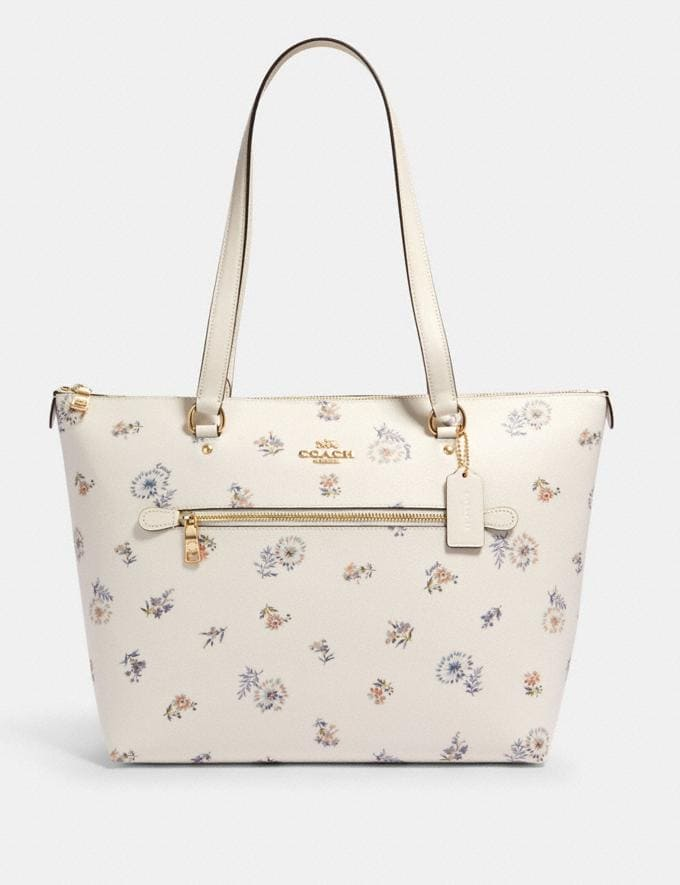 Coach Gallery Tote With Dandelion Floral Print Im/Chalk/ Blue Multi Members Only Members Only