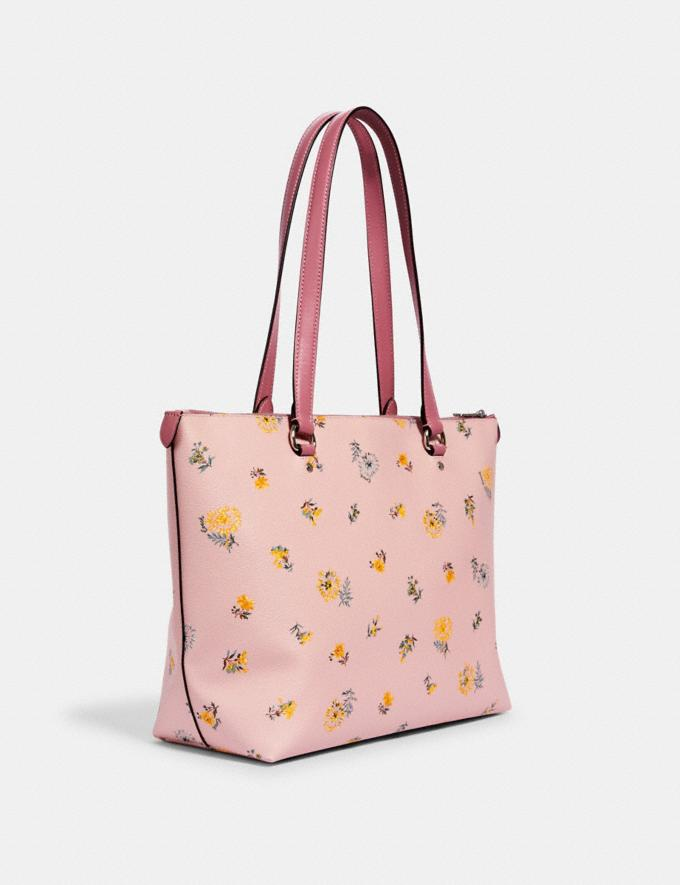 Coach Gallery Tote With Dandelion Floral Print Sv/Blossom Green Multi Memorial Day Deals Alternate View 1