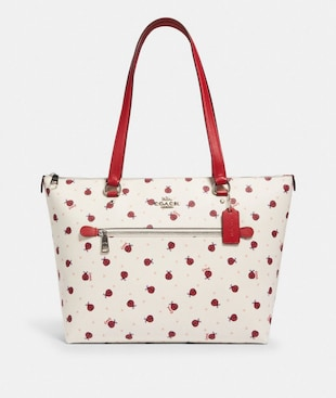 GALLERY TOTE WITH LADYBUG PRINT