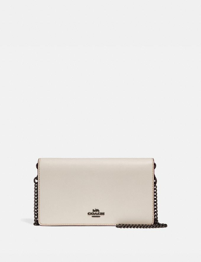 Coach Callie Foldover Chain Clutch Black Copper/Chalk 30% off Select Full-Price Styles